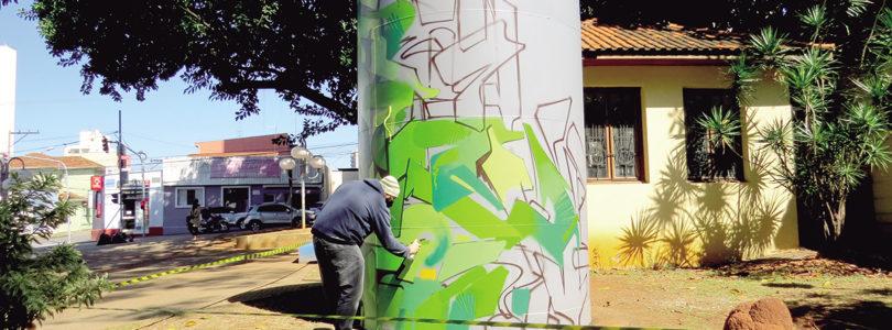 PRAÇA DO MUSEU: Obra de grafite vai ao espaço público
